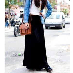 Dresses & Skirts - Black Velvet Maxi Skirt Extra Large XL